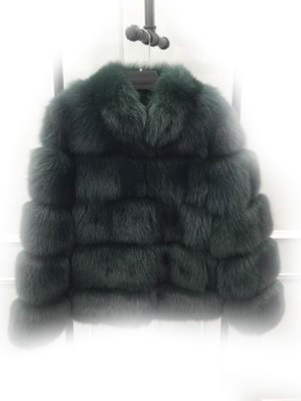 Dark Green jsVLWmqZ Winter Jacket Women Natural Real Fox Fur Coat Big Parkas