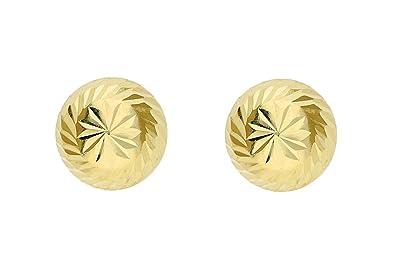 Adara 18 ct Gold Yellow Diamond Cut Studs Earrings z1IHiW