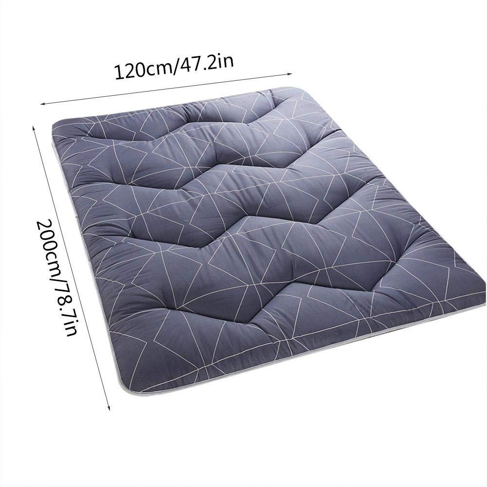 Soft Mat Non-Slip Foldable Breathable Tatami Ground Mat Soft Mat Mattress Pads Room Decor for Nap Mat Deep Blue Travel and Camping 200 x 120 cm
