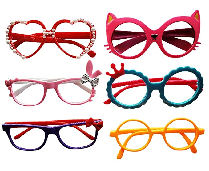 2a18a1071a0 Amazon.com  Glasses for Children Kids Boys Girls Stylish Cute Frame Without  Lenses
