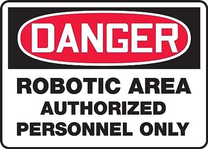Amazon.com: Peligro Robotic área personal autorizado solo ...