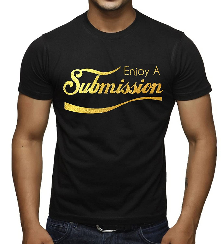 Gold Enjoy Submission Jiu Jitsu Men's Black T-Shirt Black
