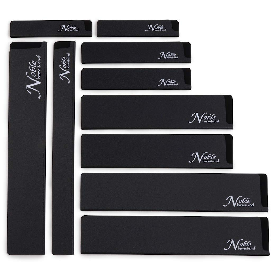 10-Piece Universal Knife Edge Guards are More Durable, BPA-Free, Gentle on Your Blades, and Long-Lasting. Noble Home & Chef Knife Covers Are Non-Toxic and Abrasion Resistant! (Knives Not Included)