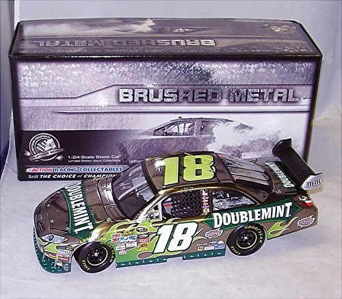 2010-kyle-busch-doublemint-toyota-brushed-metal-finish-hood-opens-trunk-opens-hoto-1-24-scale-diecas