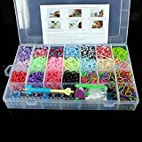 4400 Colorful Rainbow Rubber Loom Bands Bracelet Making Kit Set With S-Clips. All colors including variegated, blue, purple, green, orange, pink, red, black, silver,fuschia,yellow. Latch Hooks, Connectors & Charms. Fun For Girls & Boys of All Ages.