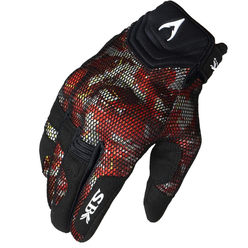 AINIYF Full Finger Motorcycle Gloves| Summer Men's Cavalier Breathable Drops Sports Gloves Cycling Locomotive Touch Screen Racing Fall (Color : Red, Size : L) by AINIYF (Image #1)