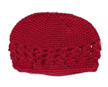 Bonamart Baby Mädchen Jungen Häkeln Mütze Stricken Beanie Hat Rot