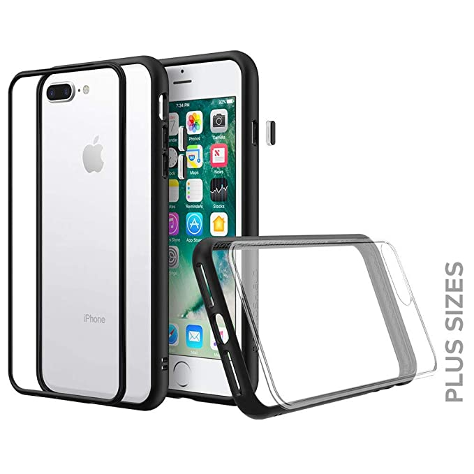 huge discount d369f 184b3 RhinoShield Modular Case for iPhone 8 Plus/7 Plus [Mod NX] | Customizable  Shock Absorbent Heavy Duty Protective Cover - Compatible w/Wireless  Charging ...