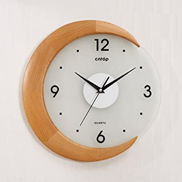 Sunjun Pastoral Wanduhr Kreative Wohnzimmer Uhren Buche Moderne Garten Art  Deco Uhr Kreativer Taktgeber ( Farbe
