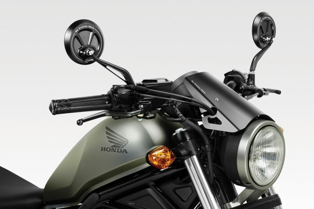 550142cd61f Honda CMX500 Rebel 2017 - Windscreen 'Exential' (S-0799) - Aluminium  Windshield Fairing - Matte Black - Easy to Install - De Pretto Moto  Accessories (DPM) ...
