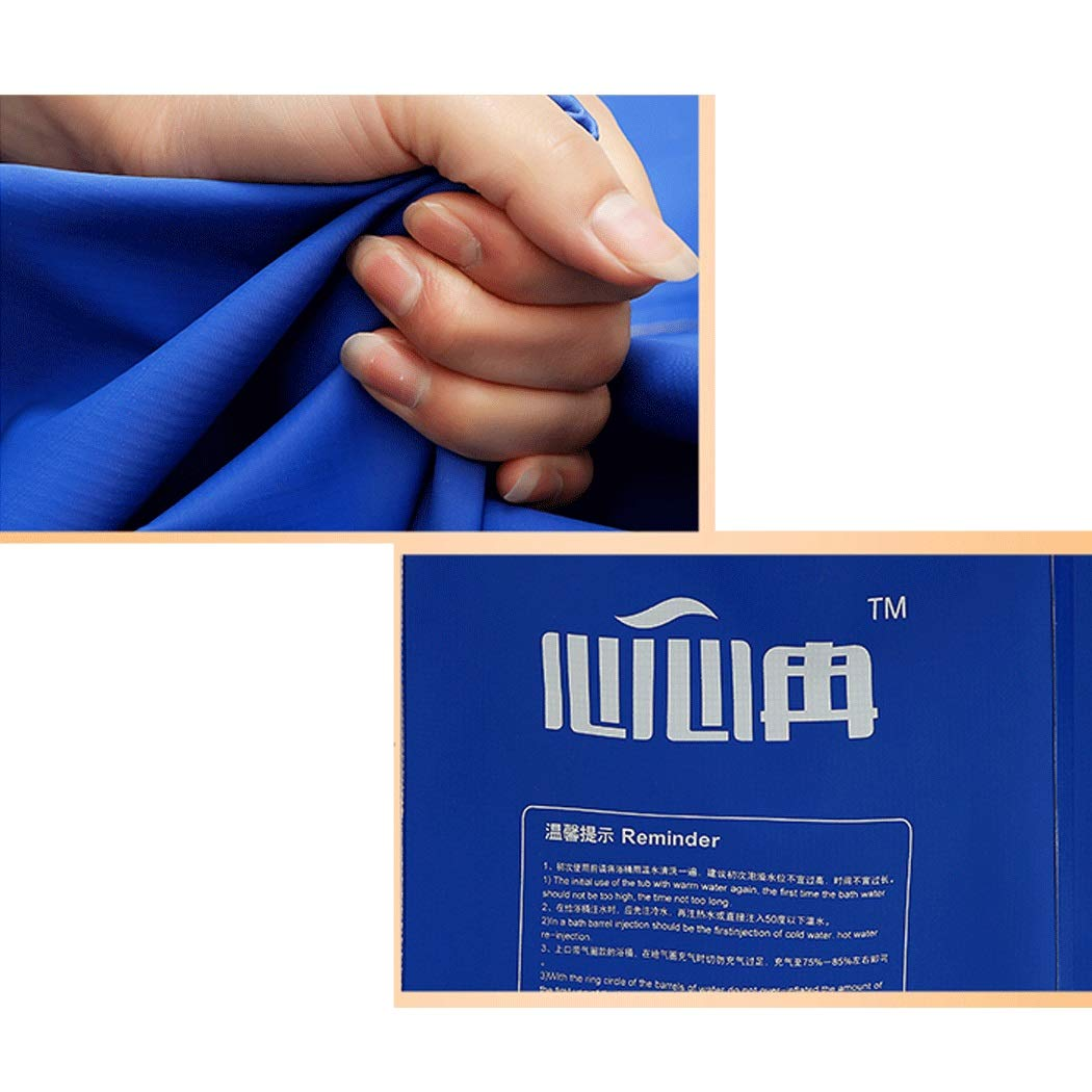 YONGYONG Adult Bath Tub Folding with Bracket Free Inflatable Bathtub Thick PVC Tub 65CM*65CM, 65CM*70CM (Color : B, Size : 65CM*65CM) by Yongyong (Image #5)