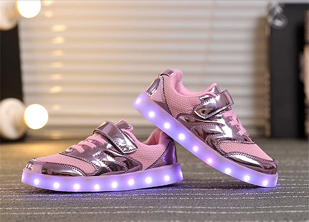 24XOmx55S99 Boys Girls Light Up Shoes 11 Color LED Flashing USB Charging Sneakers