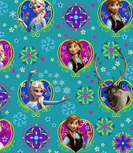 (Pack of 6) Hallmark Disney Frozen Olaf Elsa Anna Wrapping Paper Gift Wrap -