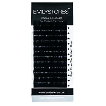 194693f4b22 Amazon.com : EMILYSTORES 100% Real Mink Fur J Curl 8mm Length Fake Eye  Lashes In One Tray For Eyelash Extensions : Beauty