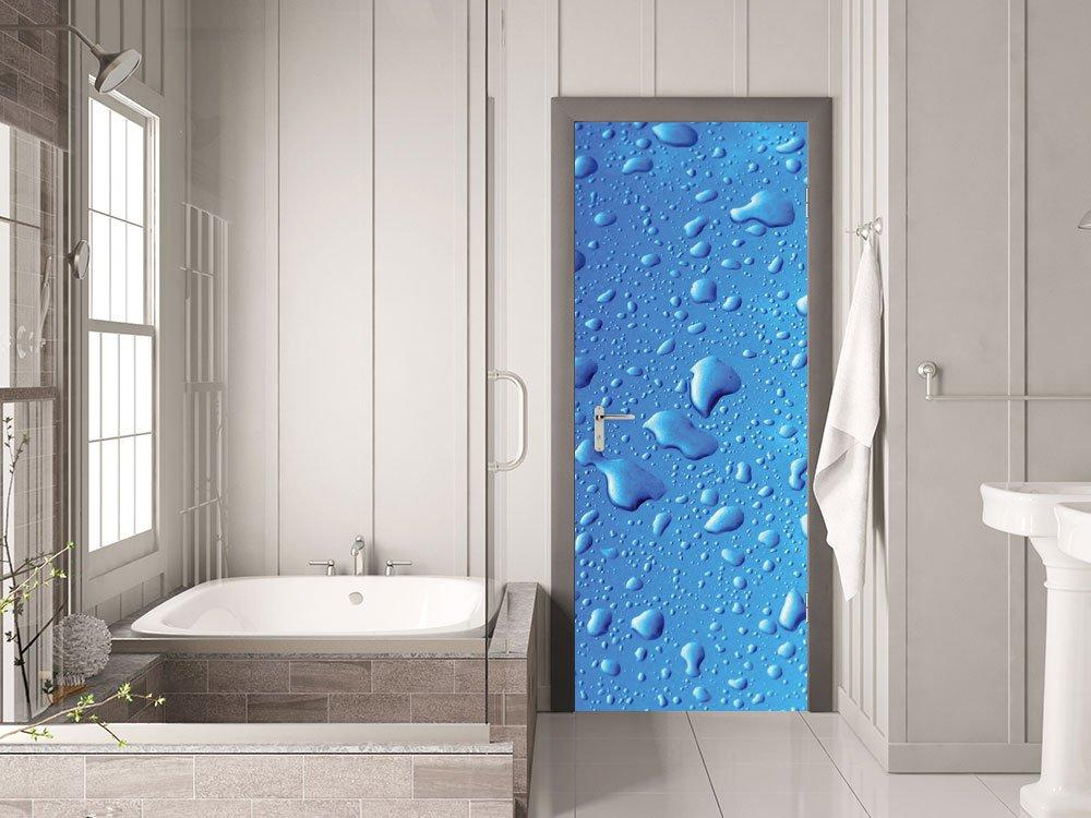 GRAZDesign Türtapete selbstklebend Wassertropfen - - - Klebefolie Tür Zimmertüren - Türbild Tür - Türtapete Schwimmbad   67x205cm   791088_67x205 B017Z06S94 Mbelsticker 147641