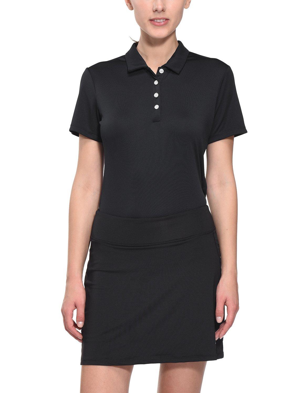 Baleaf Women's Golf Tennis Polo Shirts Quick Dry UPF 50+ Black Size XL by Baleaf