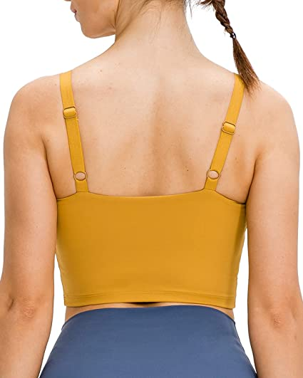 Details about  /Women/'s Seamless Wirefree Removable Cups Yoga Sport Bra Crop Top Camisole Vest