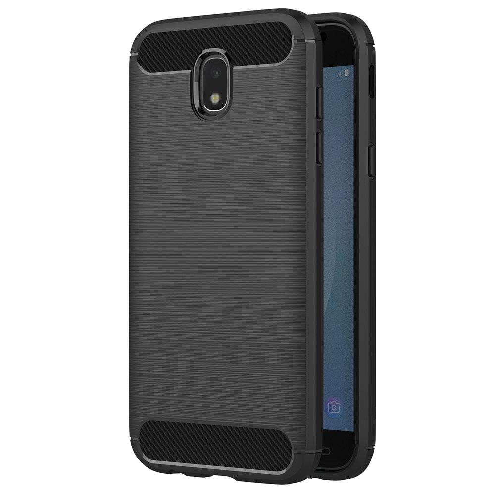 Funda Samsung Galaxy J7 2017, AICEK Negro Silicona Fundas Para Samsung J7 2017 Carcasa Galaxy J7 2017 Fibra de Carbono Funda Case (5,5 Pulgadas SM-J730F): ...