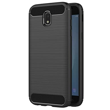 new product 27cc6 ff310 AICEK Samsung Galaxy J5 2017 J530 Case, Black Silicone Cover for Samsung J5  2017 Bumper Covers Galaxy J5 2017 J530 Black Carbon Fiber Case