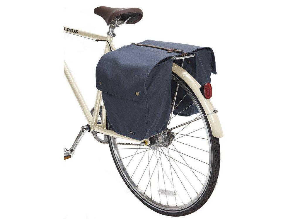 Linus Bike Market Roll-Up Pannier Bag - Navy by Linus (Image #2)