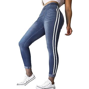 Pantalones Mujer Vaqueros, Zolimx Mujeres Otoño Elástico Pantalones Mujer Tallas Grandes Apretado Pies Sueltos Cinta