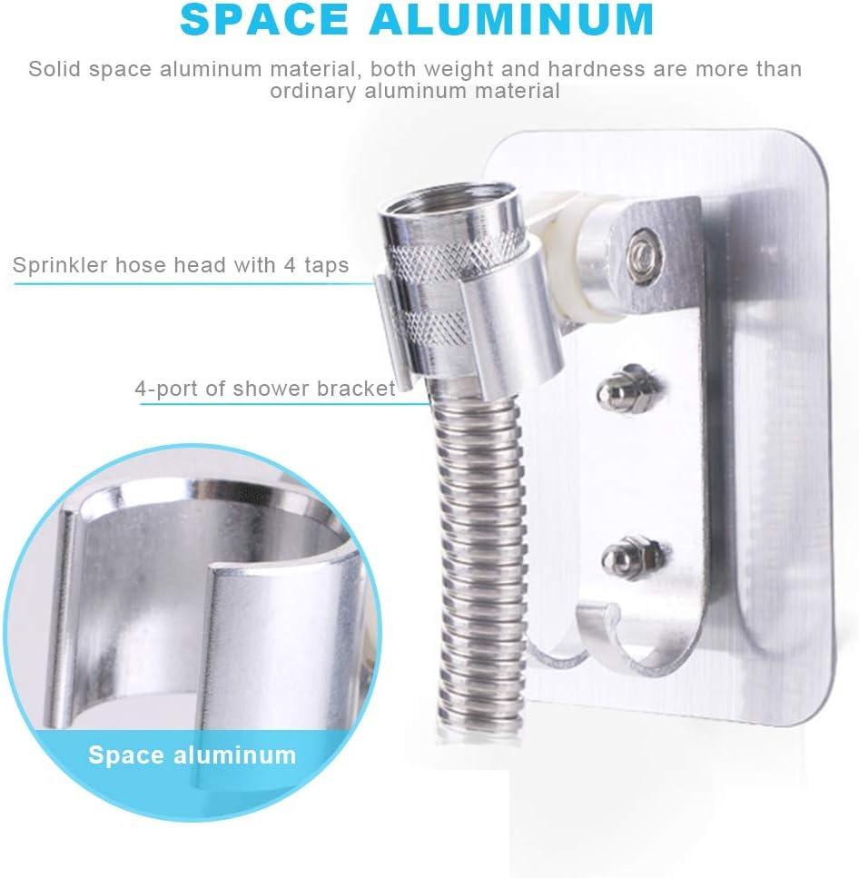 Plateado Aluminio F/ácil Instalaci/ón Soporte Impermeable y a Prueba de Humedad Mousyee Soporte Ducha Rregulable Soporte Ajustable de 90 Grados para Ba/ño 2 Piezas Soporte de Ducha Regulable