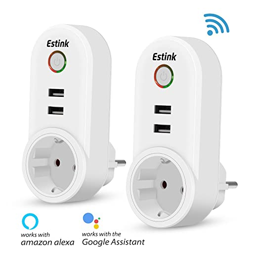 10 opinioni per Presa Intelligente, Wifi Smart Plug EU per iOS Android App Compatibile con