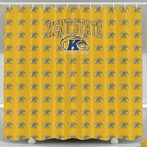 IWKULAD NCAA Kent State University KSU Kent State Golden Flashes Logo Customized Shower Curtains (Kent State Basketball Rugs)