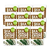 Sea Tangle Crisps, Seaweed Strips, Snack with Almonds, 30 grams (Pack of 12)