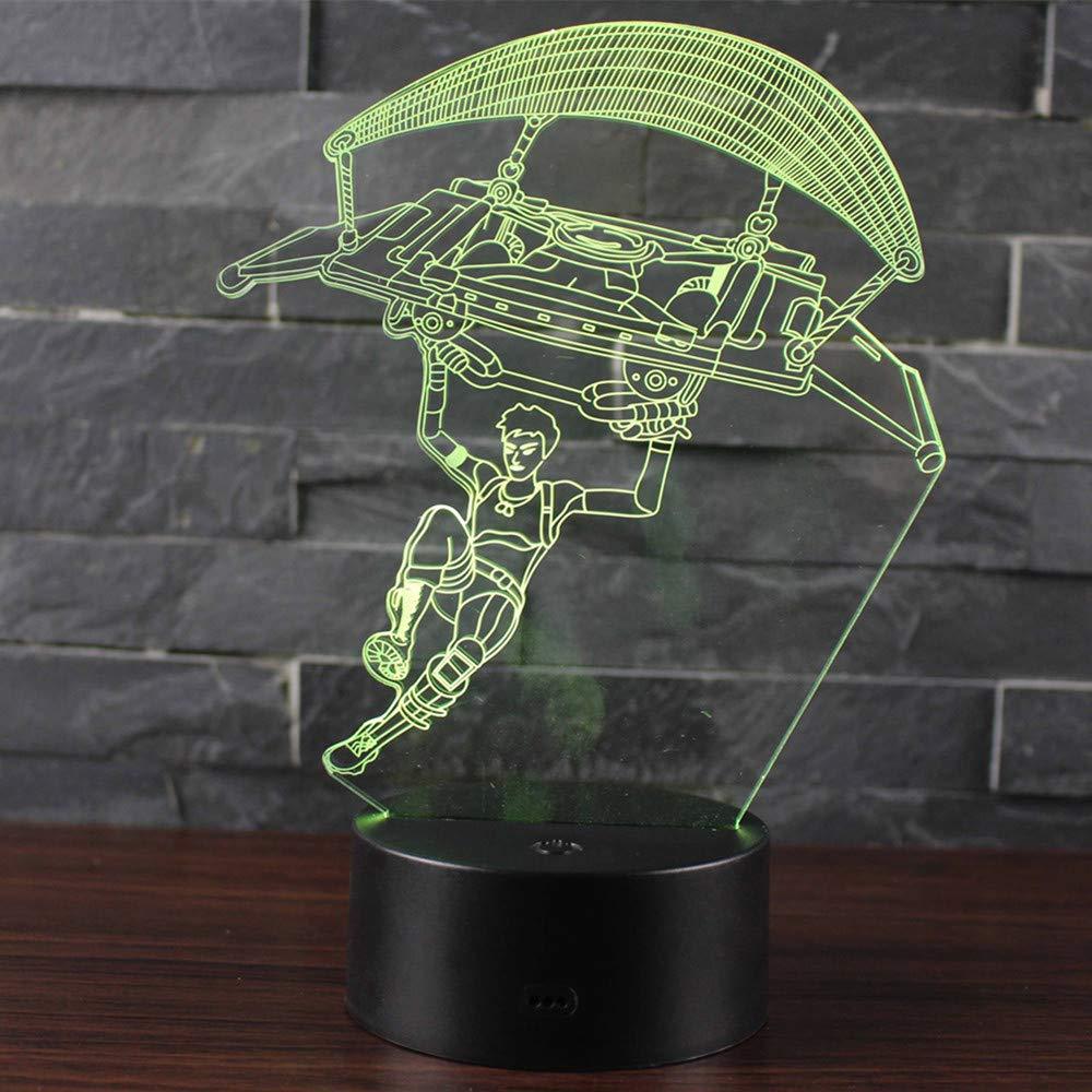Leisu 3D L/ámpara LED luz de la noche 7 cambiar el color bot/ón t/áctil regalo de Navidad para el Hogar Decoraci/ón para Ni/ños Mejor Regalo A10