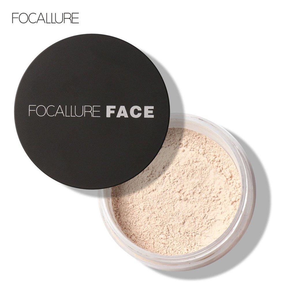 3 Arten Focallure New Face Oil Control Anti-Schweiß lang anhaltende Make-up Loose Powder Kosmetik(# 1) Semme