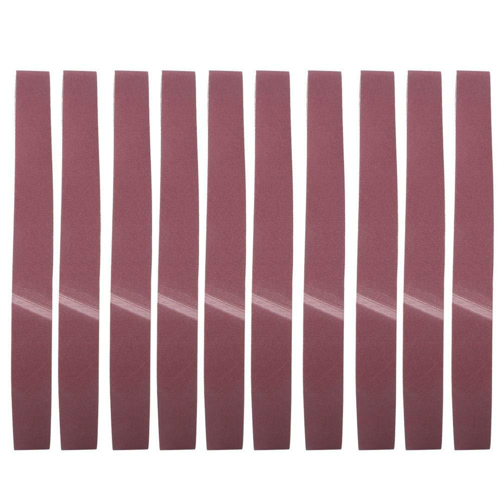 pour le travail du bois Bande abrasive les meubles kit dassortiment de bande de pon/çage circulaire en oxyde daluminium 10Pcs le mat/ériel de meulage et bande abrasive GXK51-B 1220X50mm 60#