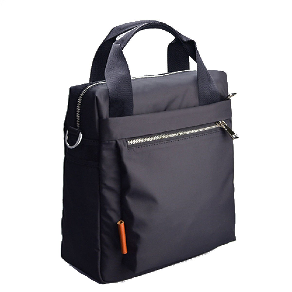 SJLN Men 8 Inch Waterproof Notebook Computer Bag Portable Shoulder Diagonal Package Briefcase Oxford Spinning Simple Retro Business English Bag,Black-OneSize