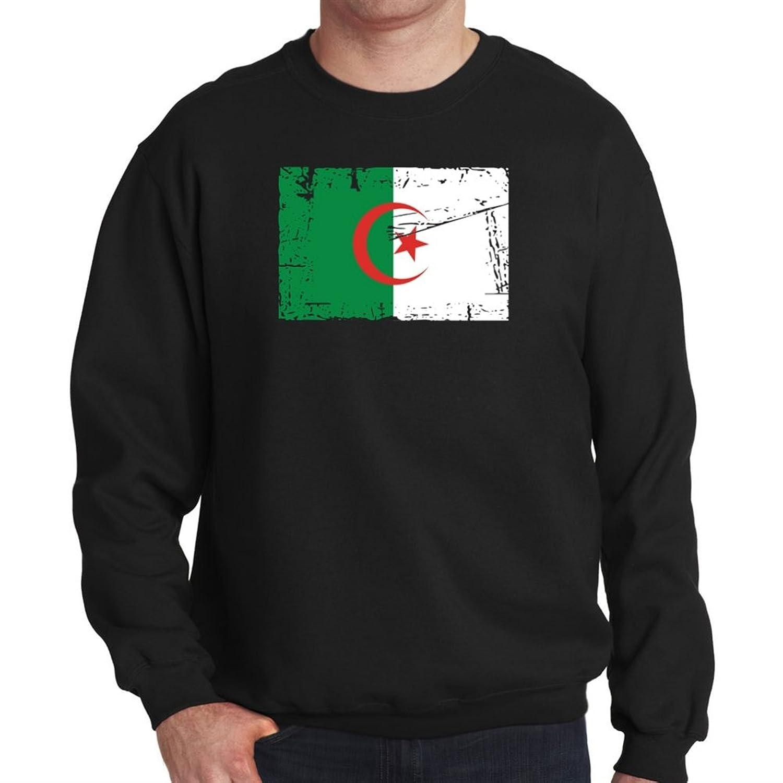 Algeria Vintage Flag Mens Sweatshirt