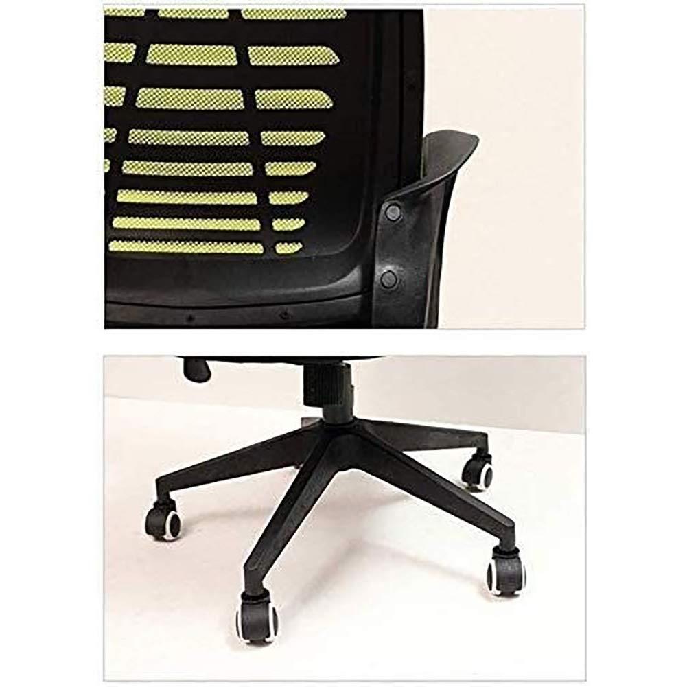 Kontorsstol skrivbordsstol kontorsstol kontorsstol dator skrivbord stol stort nackstöd hög rygg nätstol metall design ram justerbar vridbar uppgift stol (färg: Grön) röd
