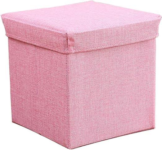 LINGZHIGAN Taburete Plegable de algodón otomano Caja de ...