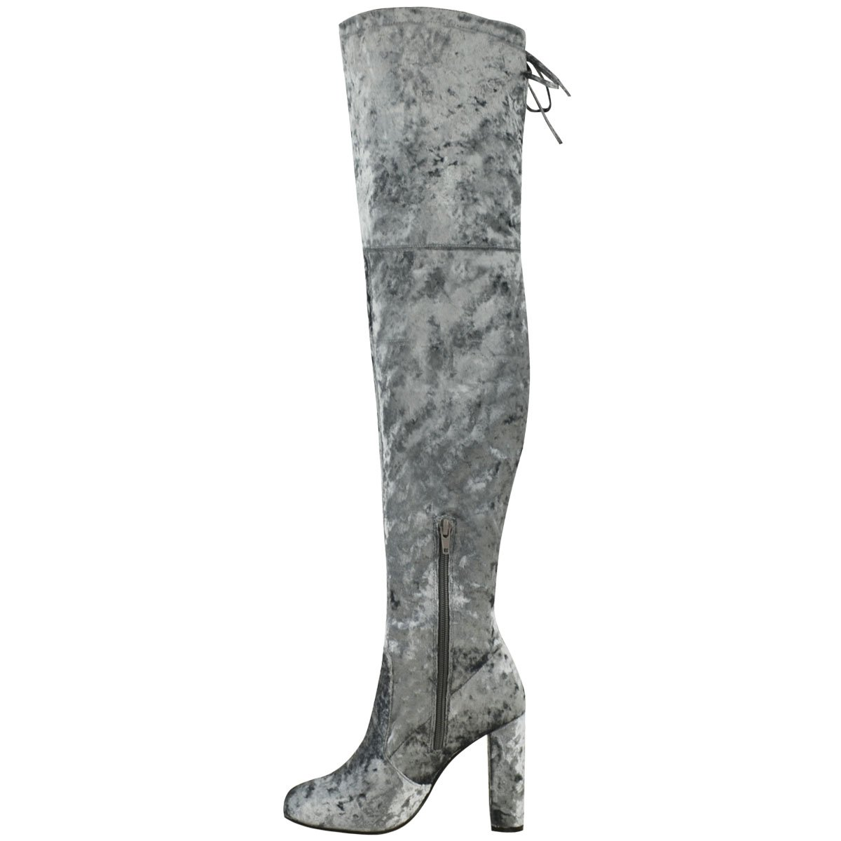 53af88bcc8f Fashion Thirsty Womens Velvet Thigh High Over The Knee Stretchy Block Heels  Boots Size