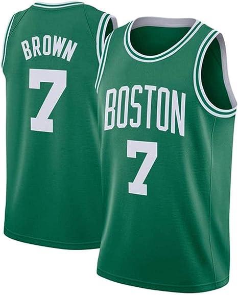 Jersey De Hombre DFFH celta marrón # 7 camiseta de baloncesto de los hombres, clásico de la