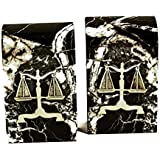 Bookends - Scales of Justice Marble Bookends - Legal Bookends - Lawyer Bookends