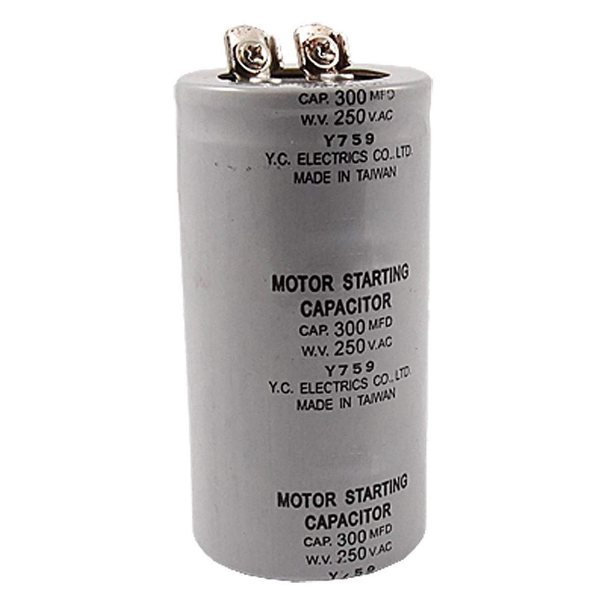 Motor condensador de arranque 300MFD 300uF AC 250 V Terminal de tornillo Motor Condensador de arranque