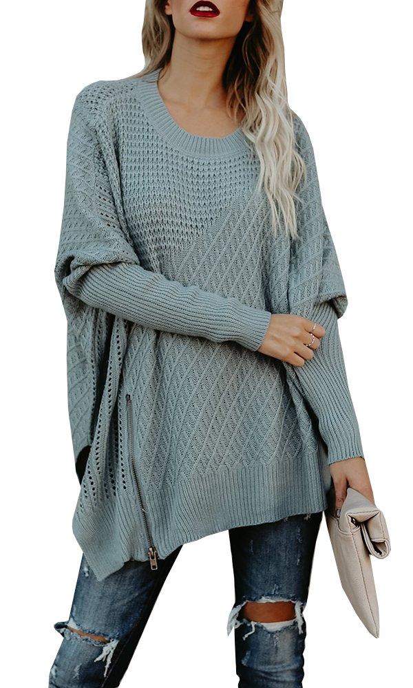 Uncinba Womens Oversized Boho Sweater Cable Knit Slouchy Boyfriend Jumper Outwear