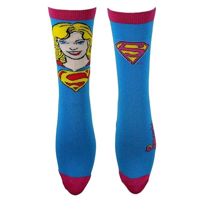 Oficial Mujer Super Girl cara y logo Calcetines Set - 2 pares EU 37 - 41: Amazon.es: Ropa y accesorios