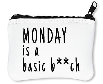 Monday Is A Basic B**Ch Funny Slogan Billetera con ...