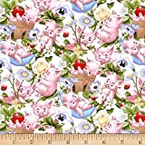 This Little Pig Packed Pigs Cream Fabric By The Yard