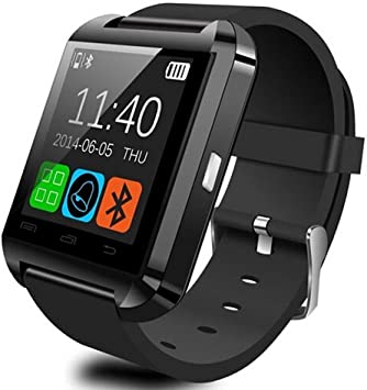 GroMate U8 Bluetooth V3.0 Smart Watch Inteligente Reloj Teléfono Compañero Pantalla tactil capacitiva para Smartphones IOS Apple iphone 4/4S/5/5C/5S Android Samsung S2/S3/S4/Note 2/Note 3 HTC Huawei Negro: Amazon.es: Electrónica