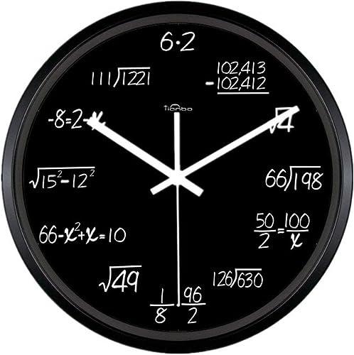 Zaoniy 12-inch Metal Math Wall Clock