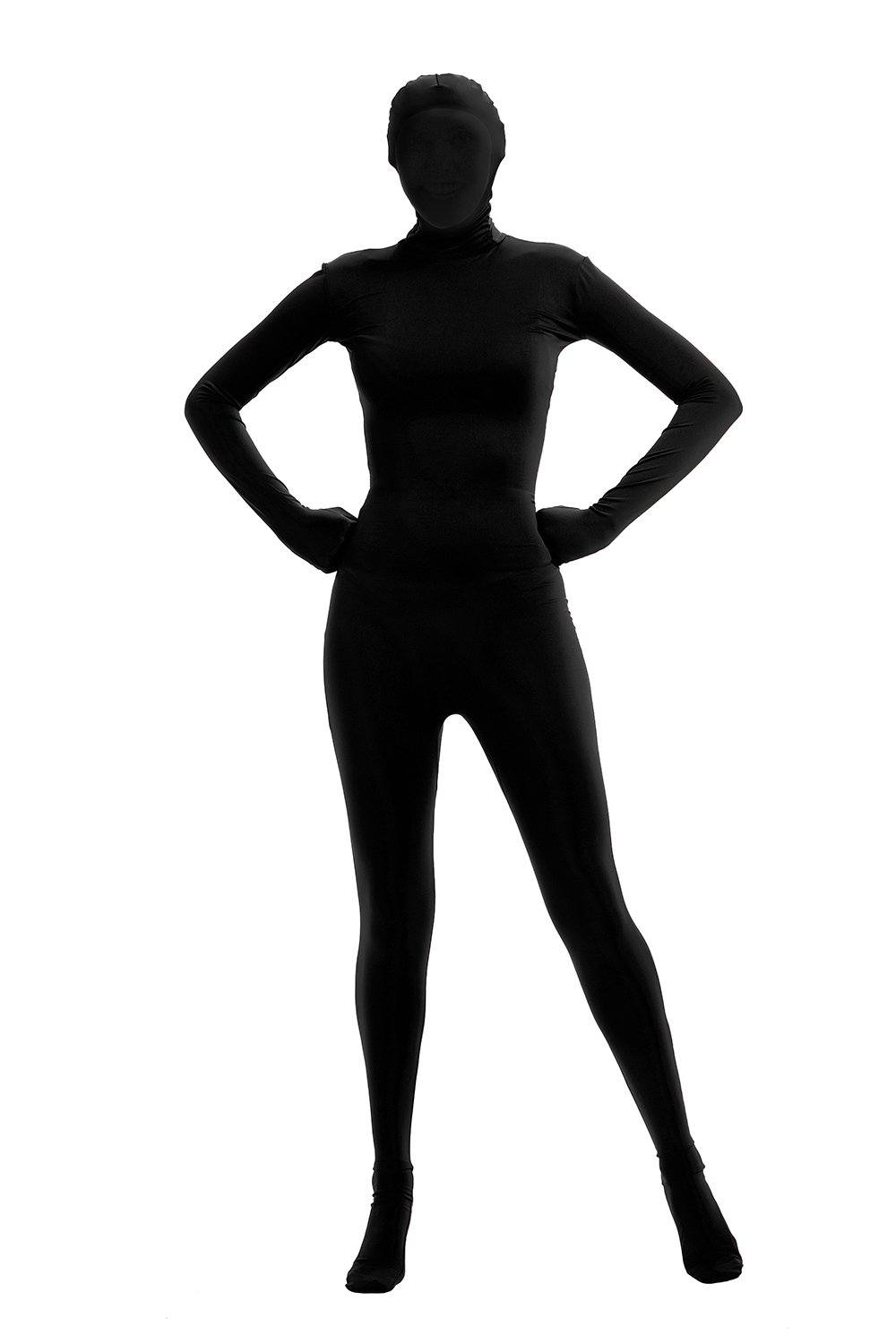 Full Bodysuit Womens Lycra Spandex Stretch Costume Zentai Disappearing Man Body Suit 61nBMTNKUiL