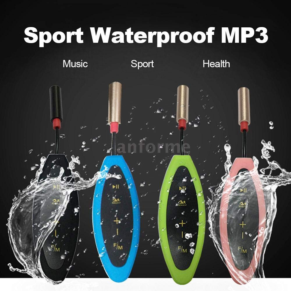 FidgetFidget Sport Waterproof 8GB Swiming Diving Underwater MP3 Player FM Radio Earphone N5I7 Pink 4GB