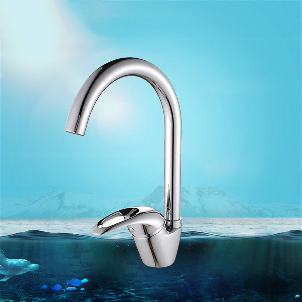 Commercial Single Lever Pull Down Kitchen Sink Faucet Brass Constructed Polished Kitchen Faucet Copper Plating Filter Foaming Sink Faucet