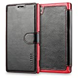 Sony Xperia Z3 Case Wallet,Mulbess [Layered Dandy][Vintage Series][Black] - [Ultra Slim][Wallet Case] - Leather Flip Cover With Credit Card Slot for Sony Xperia Z3